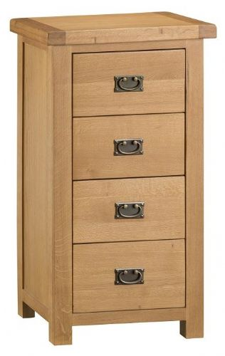 Chelmsford Oak 4 Drawer Narrow Chest